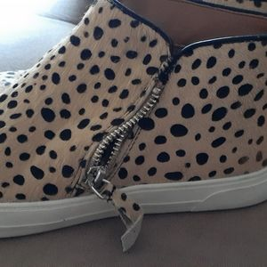 Leopard sneakers.  Gently used